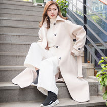 Stand Collar Coats Wool Plain Long Office Style Coats