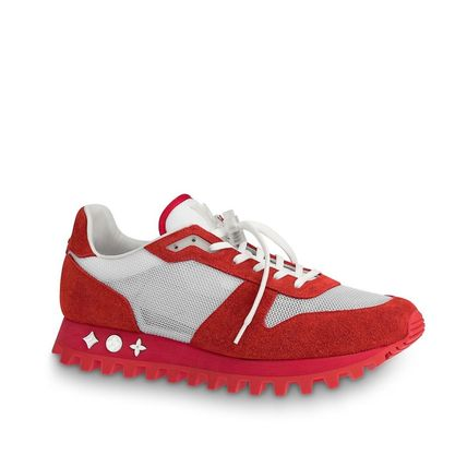 Louis Vuitton Sneakers Blended Fabrics Street Style Bi-color Plain Leather Sneakers 2