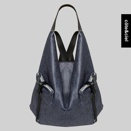 Unisex Canvas Street Style Collaboration A4 Backpacks