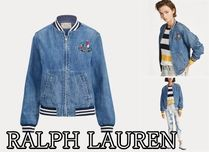 POLO RALPH LAUREN Unisex Denim Medium Varsity Jackets