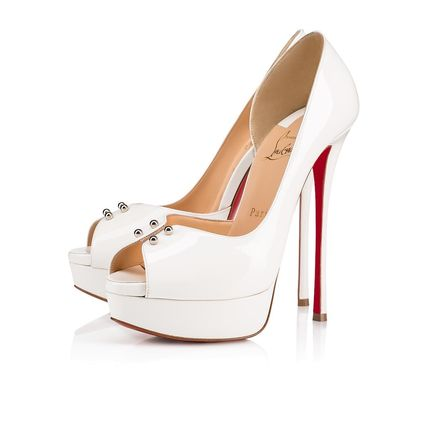 the best attitude f4f0c 3a1f6 Christian Louboutin Open Toe Platform Plain Leather Elegant Style