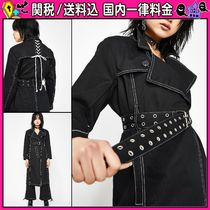DOLLS KILL Casual Style Plain Long Trench Coats