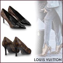 Louis Vuitton MONOGRAM Monogram Plain Toe Blended Fabrics Bi-color Pin Heels