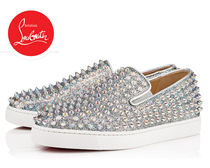 Christian Louboutin ROLLER BOAT Platform Plain Toe Casual Style Street Style Leather