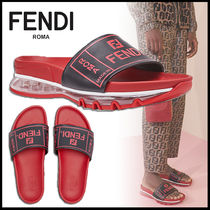 FENDI Plain Leather Sport Sandals Sports Sandals