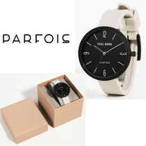 PARFOIS Casual Style Silicon Round Jewelry Watches Analog Watches