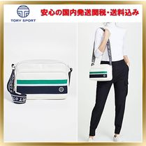 TORY SPORT Stripes Casual Style Street Style Plain Leather