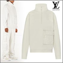Louis Vuitton Short Monogram Blended Fabrics Street Style Plain Jackets