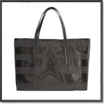 Jimmy Choo Star Unisex Studded A4 Leather Totes