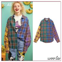 ELF SACK Other Check Patterns Casual Style Blended Fabrics