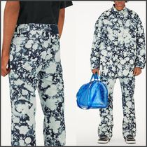 Louis Vuitton Printed Pants Unisex Street Style Bi-color Cotton