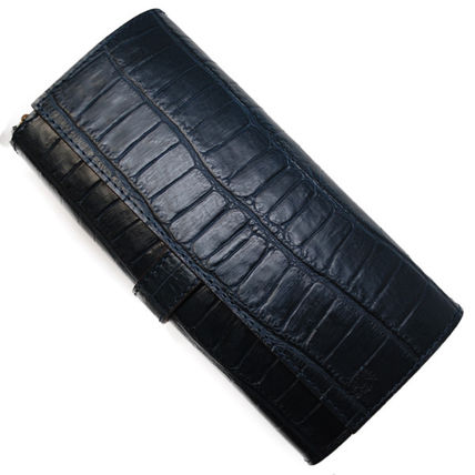 Unisex Leather Long Wallets
