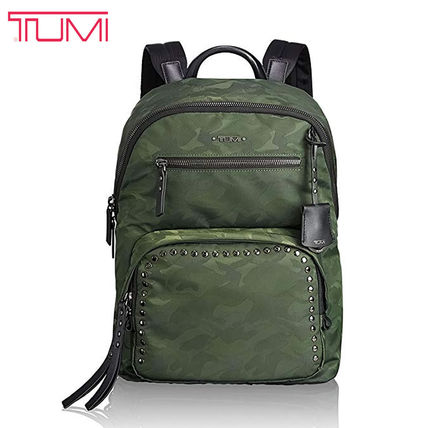 Camouflage Casual Style Nylon Street Style A4 Backpacks