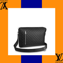 Louis Vuitton Other Check Patterns A4 Leather Handmade