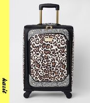 River Island Leopard Patterns Casual Style Faux Fur A4 Bags