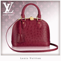 Louis Vuitton Ostrich Leather Blended Fabrics 2WAY Handbags