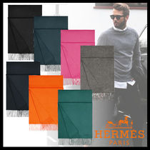 HERMES Cashmere Plain Fringes Accessories