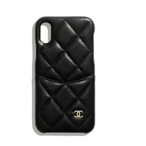 CHANEL Plain Leather iPhone X Smart Phone Cases