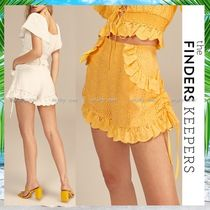 Finders Keepers Short Flower Patterns Plain Cotton Party Style