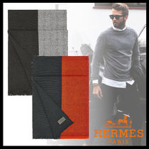 HERMES Cashmere Bi-color Fringes Accessories
