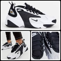 Nike AIR ZOOM Round Toe Rubber Sole Lace-up Casual Style Street Style