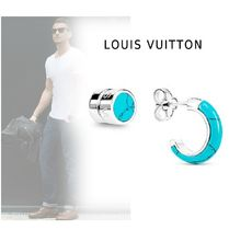 Louis Vuitton Studded Silver Earrings