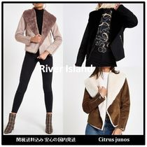 River Island Short Faux Fur Biker Jackets
