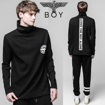 BOY LONDON Pullovers Street Style Long Sleeves Other Animal Patterns