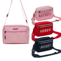 NERDY Casual Style Unisex Street Style 2WAY Plain Shoulder Bags