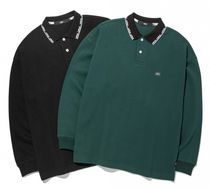 Street Style Long Sleeves Plain Polos