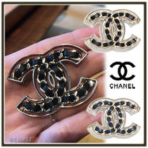 CHANEL Costume Jewelry Chain Leather Elegant Style Accessories