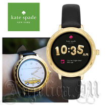 kate spade new york Casual Style Leather Round Digital Watches