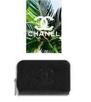CHANEL ICON 2019 SS Flower Patterns Plain Leather Card Holders by ... 162bafa243d