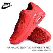 Nike AIR MAX 90 Street Style Plain Leather Bold Sneakers