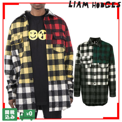 Other Check Patterns Unisex Street Style Long Sleeves Shirts