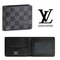 Louis Vuitton Other Check Patterns Unisex Folding Wallets