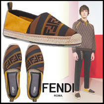 FENDI Plain Leather Sports Sandals