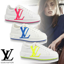 Louis Vuitton Rubber Sole Leather Low-Top Sneakers