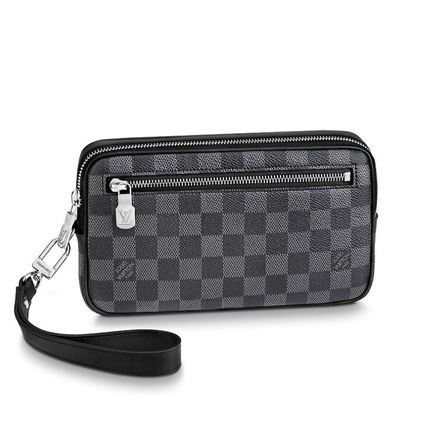 Louis Vuitton Clutches Other Check Patterns Canvas Blended Fabrics Street Style 2