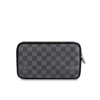 Louis Vuitton Clutches Other Check Patterns Canvas Blended Fabrics Street Style 5