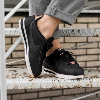 Nike CORTEZ 2018 19AW Casual Style Street Style Plain Leather Low Top Sneakers (AV4618 001)