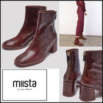 miista Casual Style Street Style Other Animal Patterns Leather