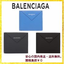 BALENCIAGA EVERYDAY TOTE Unisex Calfskin Folding Wallets