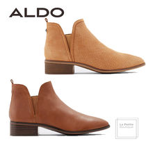 ALDO Round Toe Casual Style Studded Plain Leather