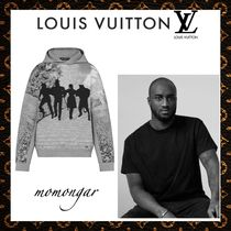 Louis Vuitton Unisex Long Sleeves Cotton Hoodies