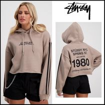 STUSSY Short Rib Street Style Long Sleeves Cotton Cropped