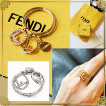 FENDI Costume Jewelry Elegant Style Rings