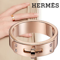 HERMES Costume Jewelry With Jewels Elegant Style Rings