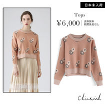 Chicwish Flower Patterns Long Sleeves Sweaters