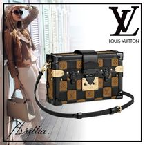 Louis Vuitton PETITE MALLE Monogram Blended Fabrics Street Style 2WAY Leather